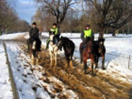 Thumbnail for July 5 Riding Hyde Park Winter. Photo courtesy of Hyde Park Stables