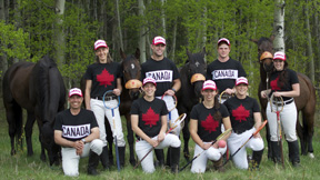 The 2012 Canadian Polocrosse team