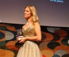 Adelinde Cornelissen receiving the 2011 Reem Acra Best Athlete Award