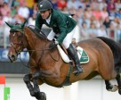 Darragh Kerins and Lisona competing at the Dublin Horse Show last year.
