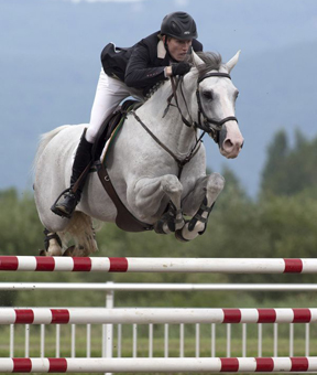Andrew Bourns and Gatsby won the Quebec Original World Cup at the Bromont International. Photo By: Cealy Tetley