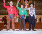 Individual Young Rider Medallist in Reining, Jonathon Stepka (Bronze), Madison Steed (Gold) and Jamie Erickson