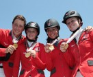 The Swiss team of Martin Fuchs, Emilie Stempfli, Annina Zuger and Chantal Muller
