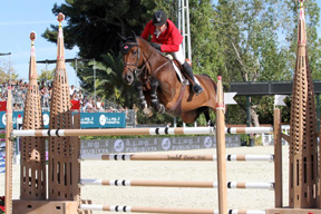 Eric Lamaze and Powerplay at the Furusiyya FEI Nations Cup™ Jumping Final. Photo by Kendall Bierer