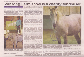Thumbnail for Winsong Fund Raiser Sentinel Article Sep 19 2013
