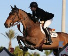 Canada's Tiffany Foster guided Victor to victory in the $34,000 Ruby et Violette WEF Challenge Cup Round III – Section B on January 23 at the FTI Consulting Winter Equestrian Festival in Wellington, FL. Photo by Sportfot