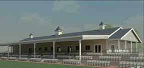 An artist's rendering of the stands at Caledon Equestrian Park.