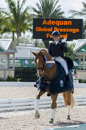 Tanya Strasser-Shostak and Action Tyme won the Florida International Youth Dressage Championships at Adequan® Global Dressage Festival.