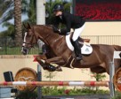 Canadian Olympian Tiffany Foster and Melody des Hayettes Z, owned by Artisan Farms, won the $34,000 Spy Coast Farm 1.45m Speed on Wednesday, March 26, during the final week of the 2014 FTI Consulting Winter Equestrian Festival in Wellington, FL. Photo by Sportfot