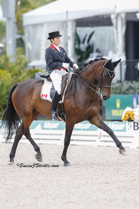 Three-time Pan Am individual gold medalist Christilot Boylen, pictured here riding Hudson 18, will compete at CDI-W CornerStone Spring Into Dressage from June 6 to 8 at the Caledon Pan Am Equestrian Park in Palgrave, ON. Photo by Susan J Stickle