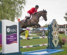 The Swiss team of Pius Schwizer, Romain Duguet, Paul Estermann and Steve Guerdat won the opening leg of the Furusiyya FEI Nations Cup™ Jumping Europe Division 1 series at Lummen, Belgium today without Olympic champion, Guerdat, having to jump a single fence. Pictured are Romain Duguet and Quorida de Treho who produced one of the three double-clear performances that clinched it for the Swiss side. Photo by FEI/Dirk Careman