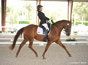 Lauren Barwick, shown here on Off to Paris, is currently ranked as the number one para-equestrian rider in the world. Photo by Lindsay McCall, United States Para-Equestrian Association