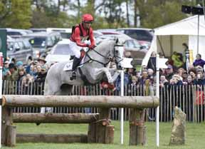 Cross Country leaders Paul Tapner and Kilronan (AUS) have a fence in hand to win at the Mitsubishi Badminton Horse Trials, fourth leg of the FEI Classics™ series. Photo by Kate Houghton/FEI