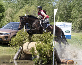 Jessica Phoenix riding A Little Romance at the Jaguar Land Rover Bromont Three Day Event. Photo by Cealy Tetley