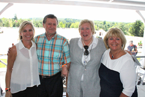 Anita Gravelle, Vel Miculinic, Desi Dillingham, and Deborah Kinzinger at the 'Lunch in the Country' fundraising event that raised over $18,000 in support of the Canadian Dressage Athlete Assistant Program (C-DAAP). Photo courtesy of C-DAAP