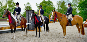 Team Rock'em Sock'em'of Lauren McMillan riding Royal Dublin, Allison MacDonald aboard Nantucket and Zoe Siple riding Killer Cupcake won Angelstone's inaugural Great Pony Challenge.