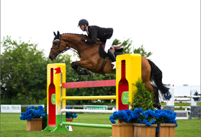 The Winner of $50,000 Headwaters Cup Grand Prix 1.45M FEI Presented Mar-Co Contracting Andrew Bourns & Chacco's Goldy