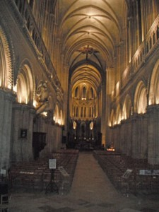 Inside the Bayeux Cathedral.