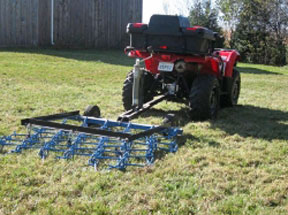 Using a harrow can help to evenly distribute manure in a grazing area and help break it up.