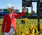 Ian Millar celebrates his CP International win at Spruce Meadows and will now embark on the Rolex Grand Slam of Show Jumping. Photo by Rolex Grand Slam/ Kit Houghton