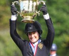 Jessica Springsteen, winner of the 2014 $200,000 American Gold Cup. Photo by Emily Riden/Phelps Media Group