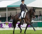 Jock Paget (NZL) and Clifton Promise produce a superb test to take the lead after Dressage at the Land Rover Burghley Horse Trials. Photo by Trevor Holt/FEI