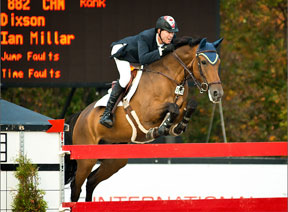 The winner of the $33,500 FEI Open Welcome presented by Gilt Restaurant Ian Millar and Dixson.