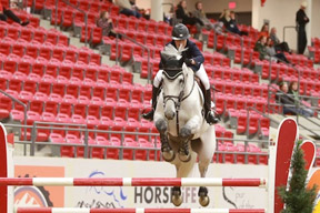 Elizabeth Gingras and Zilversprings won the first annual $100,000 Spirit of the West CSI3* Cup at the Royal West Tournament. Anna Skripets Photography
