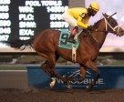 Patrick Husbands guides Stonestreet stable's Hillaby to victory in the $200,000 Bessarabian Stakes at Woodbine. Photo by Michael Burns Photography
