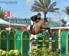 For an unprecedented third week in a row, Eric Lamaze, this time riding Fine Lady 5 for owner Artisan Farms LLC, won the $34,000 Ruby et Violette WEF Challenge Cup at the 2015 Winter Equestrian Festival in Wellington, FL. Photo by Starting Gate Communications