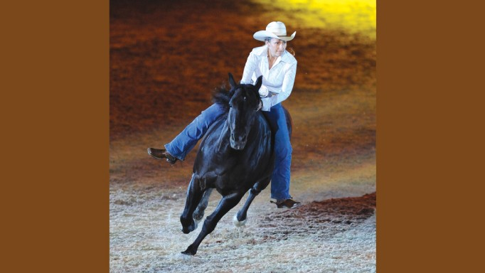 Riding bridleless with stacy westfall horse canada for West fall