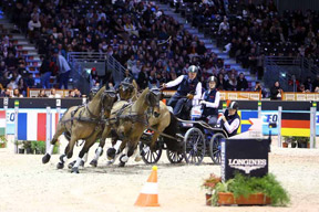 Boyd Exell on his way to a historic sixth victory in the FEI World Cup™ Driving Final at Bordeaux (FRA).Photo by Pierre Costabadie/FEI