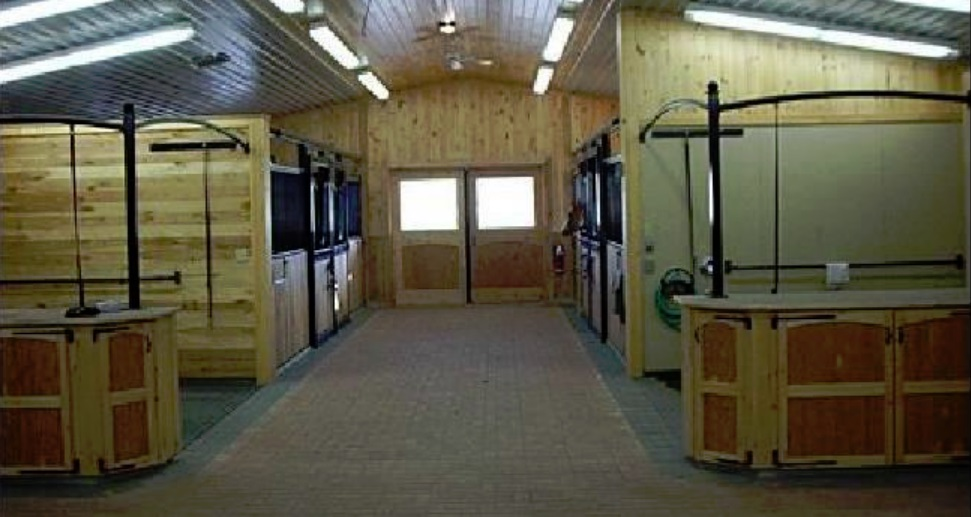 The Admiral Gratton Legacy Farm stables interior, healing horses