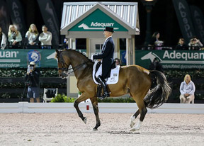 Lars Petersen and Mariett won the FEI Grand Prix Freestyle CDI5 at the 2015 Adequan® Global Dressage Festival. Photo by SusanJStickle.com