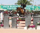 Eric Lamaze and Rosana du Park won the $34,000 1.45m speed class at the Winter Equestrian Festival. Photo by Sportfot