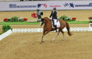 Roberta Sheffield and Double Agent during their CPEDI3* Freestyle. Photo by Susan Stafford-Pooley