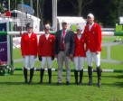 The Canadian Show Jumping Team finishedfFourth at CSIO 4* Coapexpan FEI Furusiyya Nations' Cup™ (L to R) Elizabeth Gingras, Erynn Ballard, Mark Laskin, Kara Chad, Jonathon Millar. Photo by Equine Canada