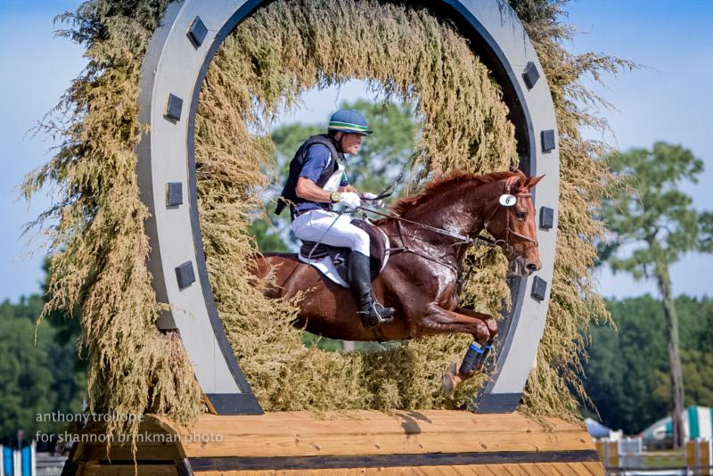Kyle Carter and FR's Trust Fund put in a spectacular performance to finish third in the CCI2* division at the Ocala Horse Properties International Festival of Eventing, held April 8-12 in Ocala, Fla. Photo by Anthony Trollope for Shannon Brinkman Photography
