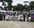 At the prize-giving for the third leg of the Furusiyya FEI Nations Cup™ Jumping 2015 Europe Division 1 League at Piazza di Siena in Rome, Italy where Great Britain reigned supreme: (L to R) On. Sandro Gozi, FISE President Vittorio Orlandi, Gen. Roberto Corsini, Michael Whitaker, Robert Whitaker, British Chef d'Equipe Di Lampard, John Whitaker, Holly Gillott, FEI President Ingmar de Vos, Mr Majd Aldrees, Deputy Chef de Mission Saudi Arabian Embassy Rome, Elisa Gasparini, Brand Manager Longines Italy. Photo by FEI/Stefano Secchi