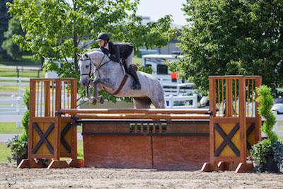 Christi McQuaker of Schomberg, ON, riding Californica in the Main Hunter Ring during opening day of the inaugural Ottawa International Horse Show at Wesley Clover Parks. Photo by Ben Radvanyi Photography
