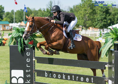 Elizabeth Bates and Wildfire won the $35,000 Brookstreet Grand Prix at the Ottawa International at Wesley Clover Parks. Photo by Simon Stafford for Jump Media