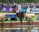 Ingrid Klimke and FRH Escada JS power into the lead after Cross Country at Luhmühlen (GER), fifth leg of the FEI Classics™ 2014/2015. Photo by Hanna Broms/FEI