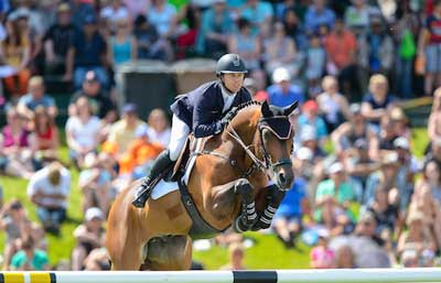 Kent Farrington and Voyeur won the in $400,000 RBC Grand Prix at the Spruce Meadows National. Photo by Spruce Meadows Media Services