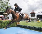 Lisa Carlsen and World's Judgement were second in the $210,000 Cenovus Energy Classic Derby at the Spruce Meadows North American. Photo by Spruce Meadows Media Services