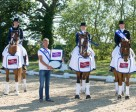 Team Denmark won the sixth and last leg of the FEI Nations Cup™ Dressage 2015 pilot series staged at Hickstead, Great Britain. (L to R) Sune Hansen, Sidsel Johansen and Anders Dahl. Photo by FEI/Jon Stroud