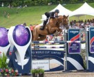 Schuyler Riley (USA) and Dobra de Porceyo winners of the first Longines FEI World Cup™ Jumping North American League qualifier at Bromont International (CAN). Photo by Debbie Jamroz/FEI