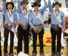 Italy claimed team gold today at the FEI European Reining Championships 2015 in Aachen (GER) - left to right: Giovanni Masi de Vargas, Francesco Martinotti, Pierluigi Fabbri and Edoardo Bernadelli. Photo by Jon Stroud/FEI