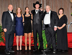 J.C. and his family are inducted into the Jump Canada Hall of Fame in the category of Builder (Organization) at the 2011 Gala. (L to R: Bryan, Susan, Sandra, John, J.C. and Barbara). Photo by Michelle C. Dunn