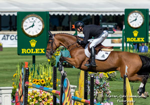 Canadian Olympic Champion guides Fine Lady 5 to victory in the $35,000 ATCO Structures & Logistics Cup on September 10 at the Spruce Meadows 'Masters' tournament in Calgary, AB. Photo by Starting Gate Communications