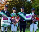 Germany scored its third win in FEI Nations Cup™ Eventing this season, this time at Waregem (BEL), from left to right: Andreas Dibowski, Annamaria Rieke, Andreas Ostholt and Julia Krajewski. Phot by Hanna Broms/FEI